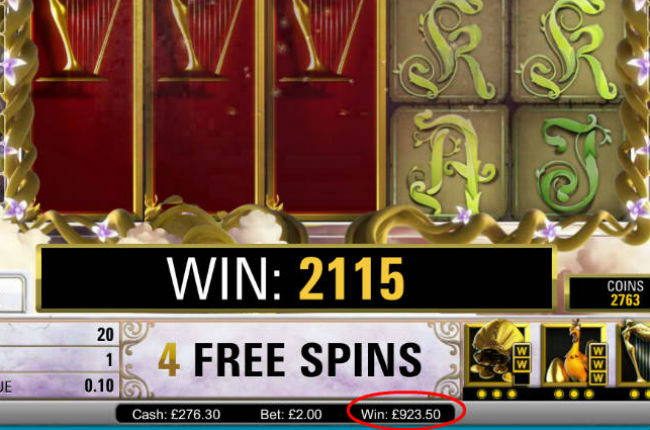 Profit Maximiser big slot win