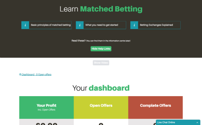 MatchedBets First Impressions