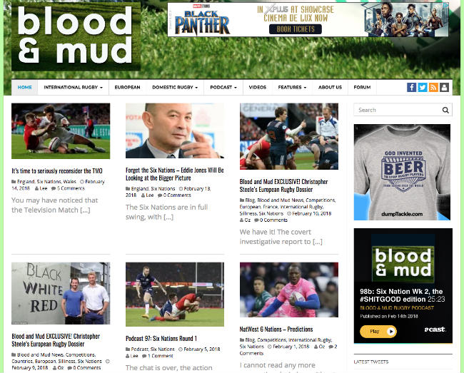Best Sport Blogs: Blood and Mud
