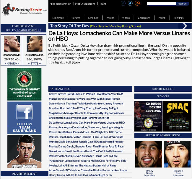 Best Boxing Blogs: Boxing Scene
