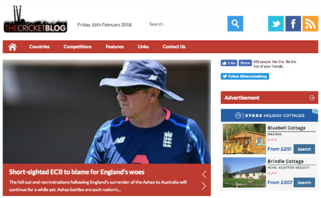 Best Sports Blogs: The Cricket Blog