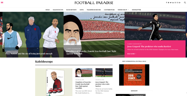 Best Football Blogs, Football Paradise