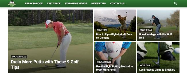 Best Sports Blogs: How To Break 80