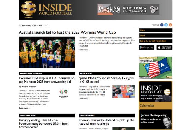 Inside World Football: Best Sport Blogs
