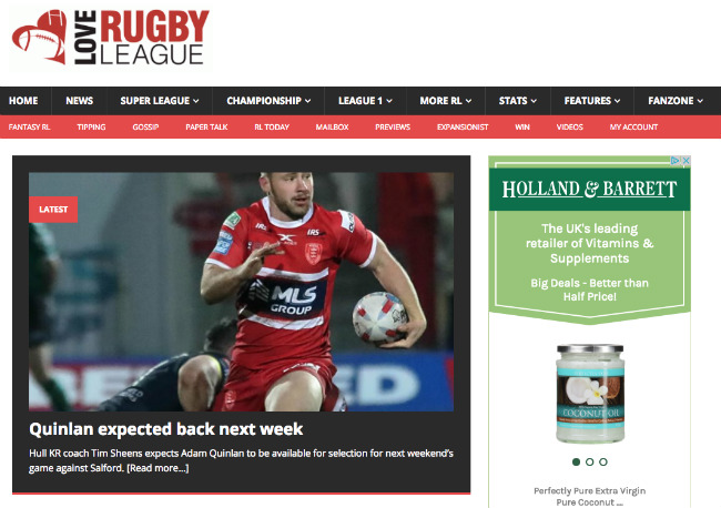 Best Sports Blogs: Love Rugby League