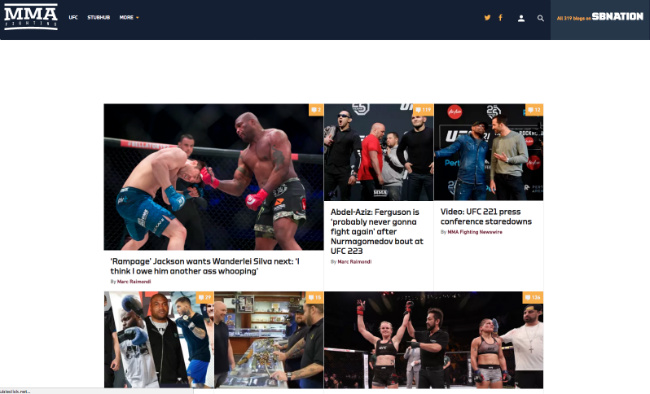 Best MMA Blogs: MMA Fighting