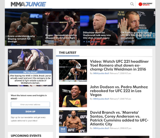 Best UFC Blogs: MMA Junkie