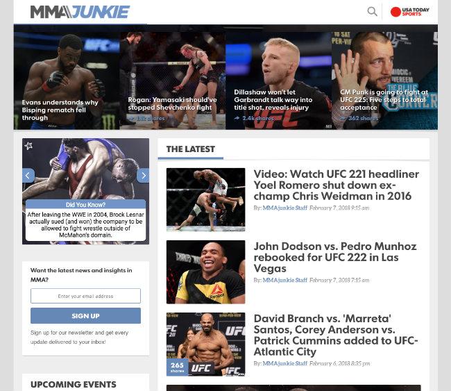 Best UFC Blogs: MMA Junkie
