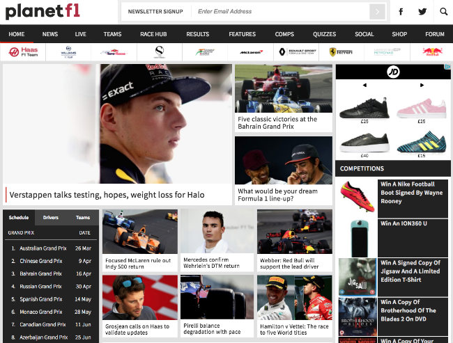 Best Formula 1 blogs: Planet F1
