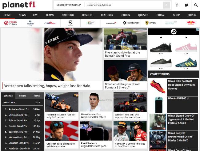 Best Formula 1 blogs: Planet F1