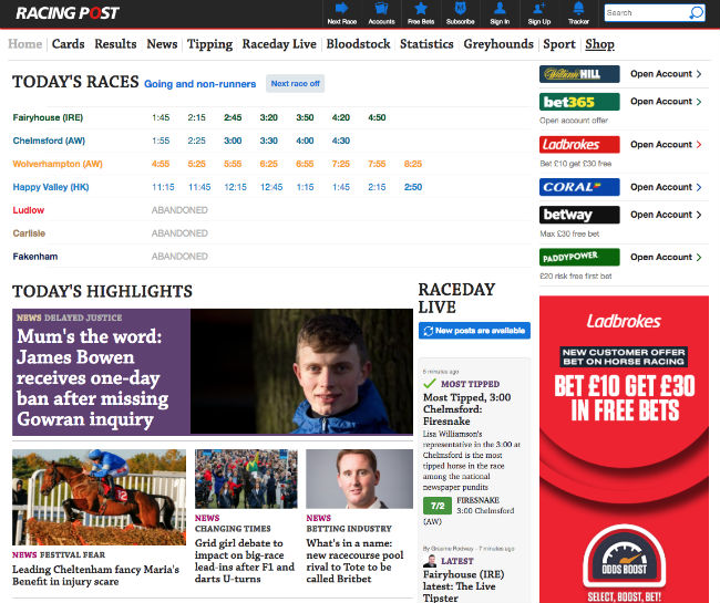Best Horse Racing Blogs: Racing Post