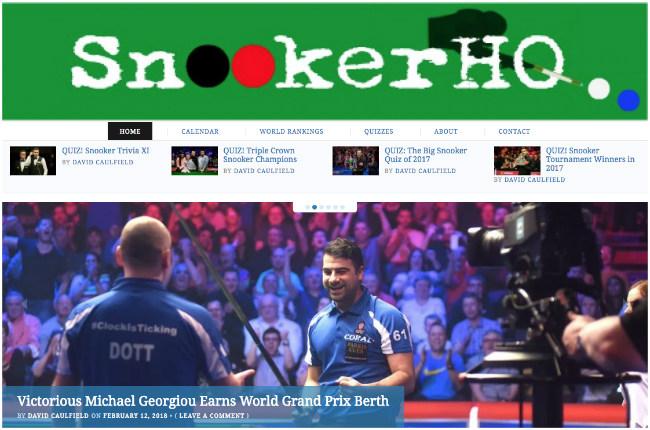 Best Sports Blog: Snooker HQ