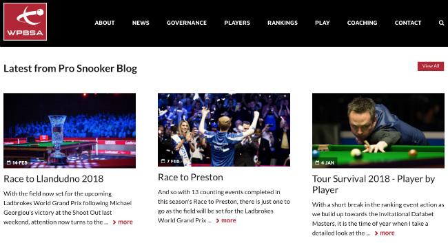 Best Sport Blogs: WPBSA Snooker Blog