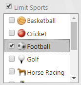 Limit football filter