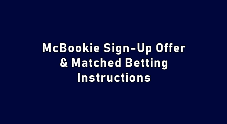 McBookie sign up offer